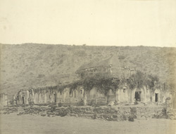 South-east view of ancient ruined palace, Alagarkoil, Madura District
